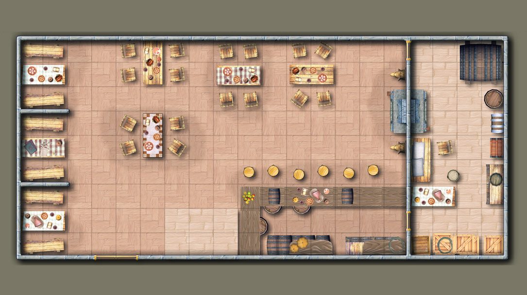 Dungeon maps for RPG. Create maps online, download as PDF and PNG.