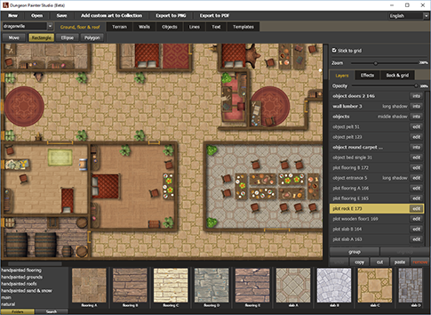 Dungeon maps for rpg create maps online download as pdf for Online house map maker
